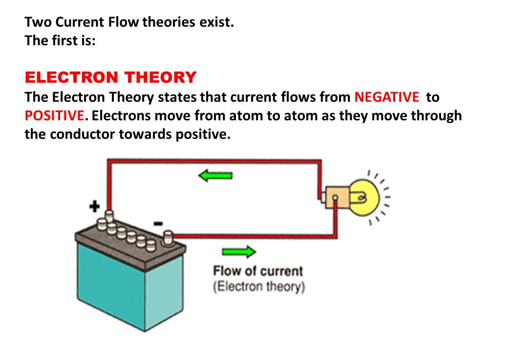 Two Current Flow theories exist.