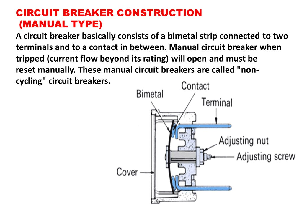 CIRCUIT BREAKER CONSTRUCTION
