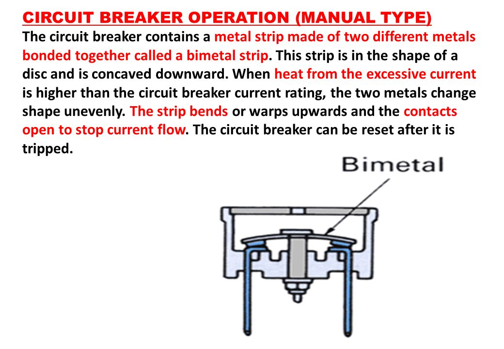 CIRCUIT BREAKER OPERATION (MANUAL TYPE)