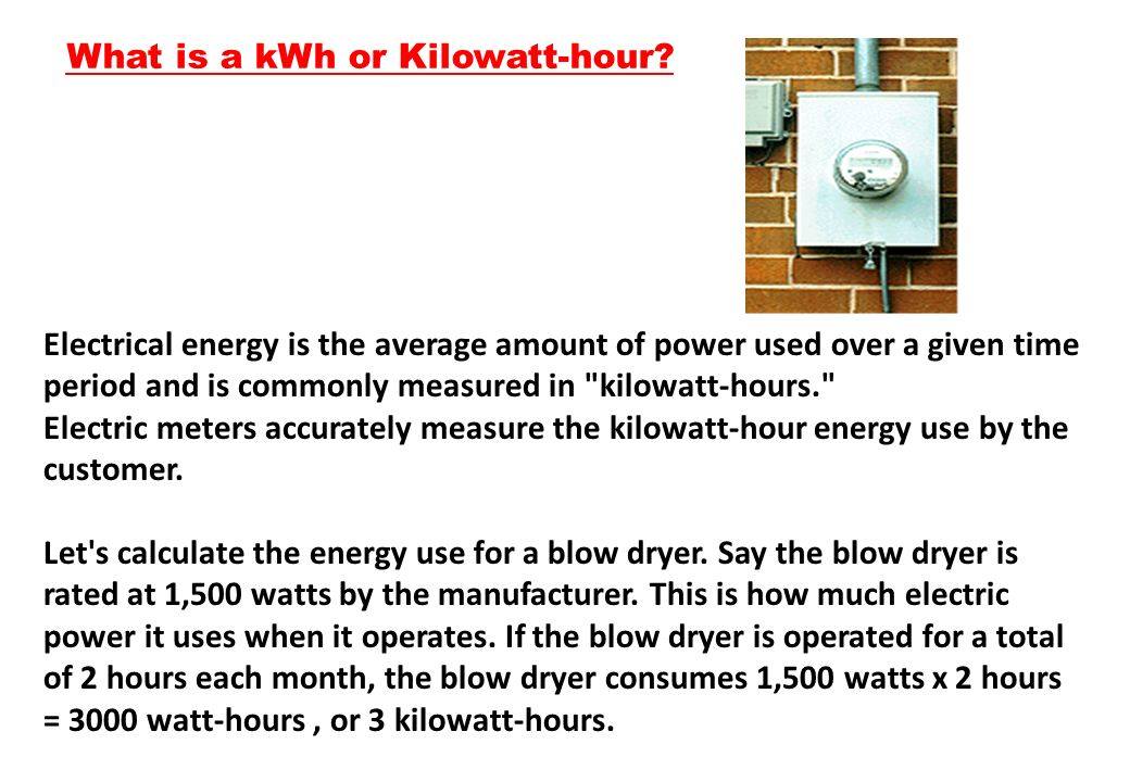 What is a kWh or Kilowatt-hour