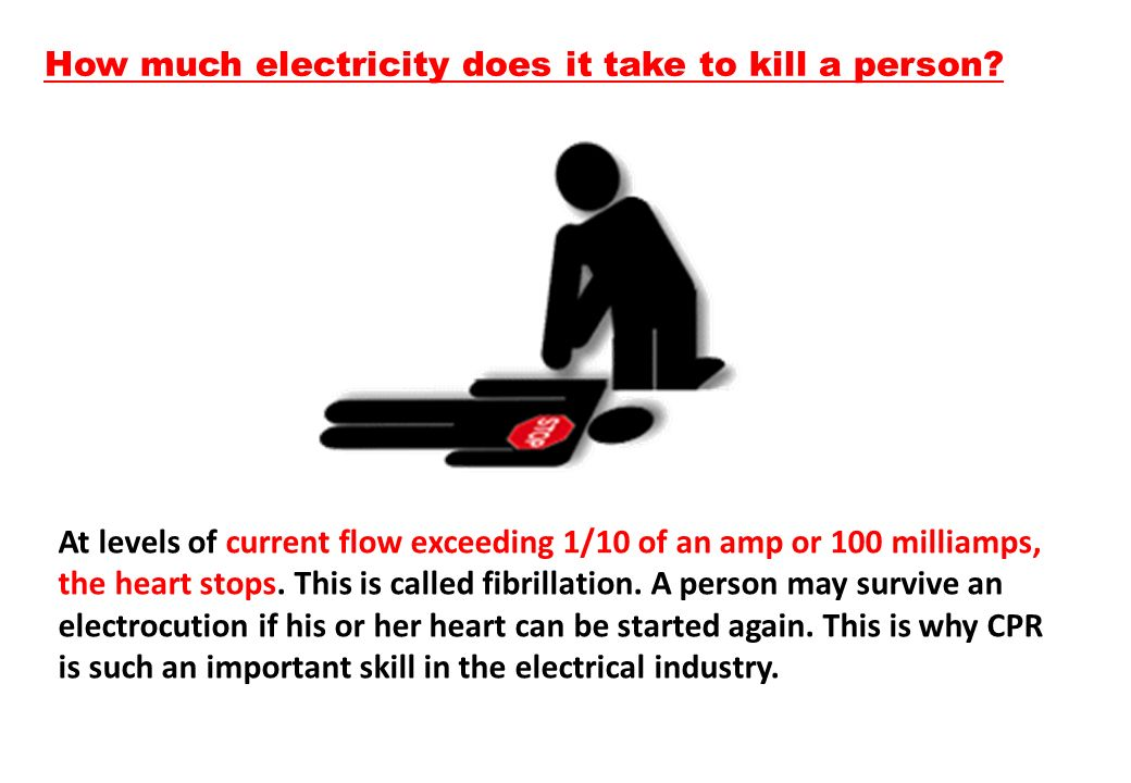 How much electricity does it take to kill a person