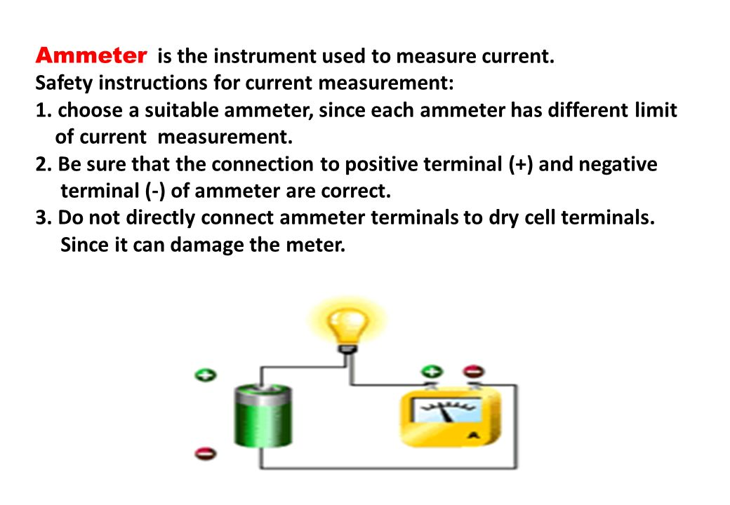 Ammeter is the instrument used to measure current.