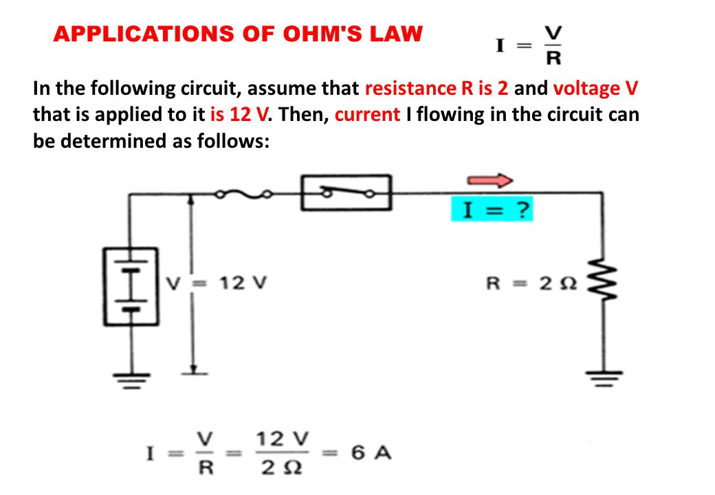 APPLICATIONS OF OHM S LAW