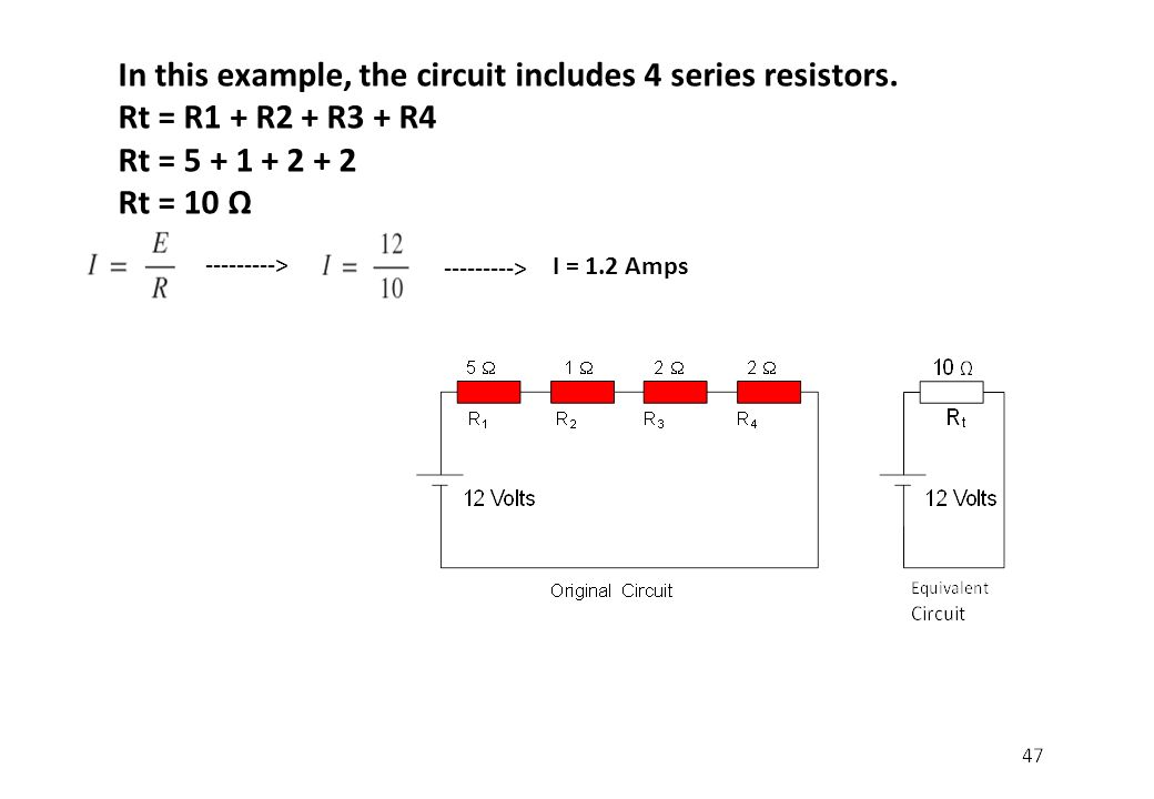 In this example, the circuit includes 4 series resistors.