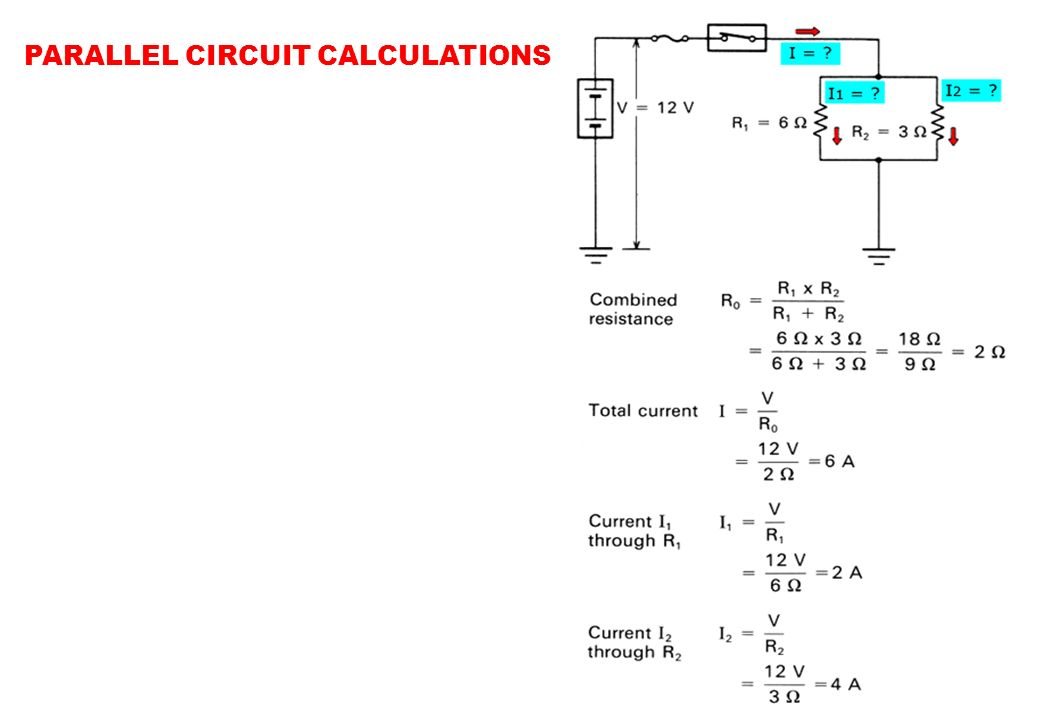 PARALLEL CIRCUIT CALCULATIONS