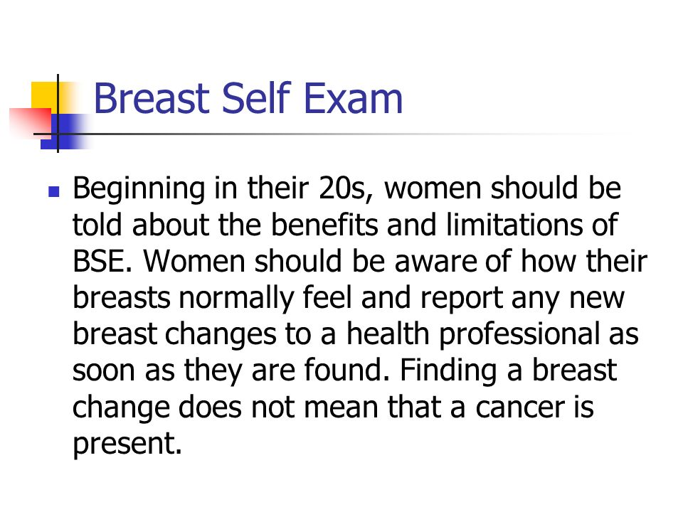 why women should be aware of breast cancer Find out how to check your breasts and be breast aware  some breast cancers are first spotted by women  worried that you might have cancer you should go to.