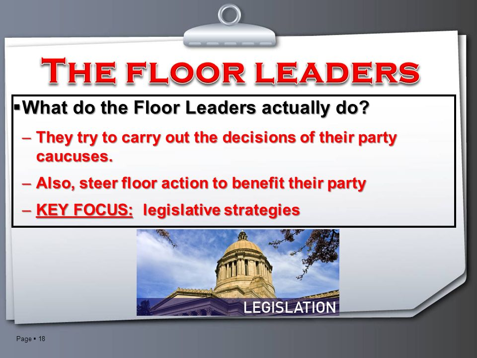 The legislative branch ppt download for Who are the floor leaders