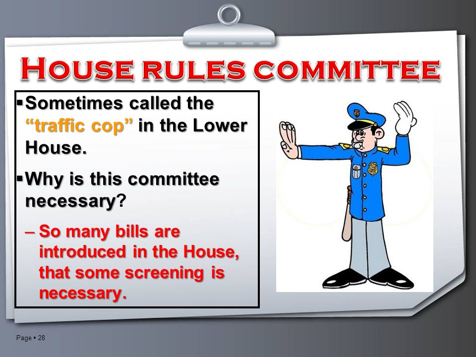 28 House Rules ...