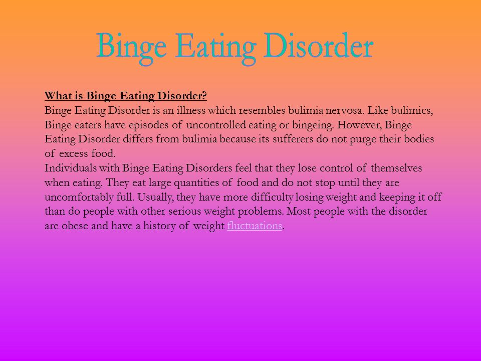 how to stop binge eating disorder and lose weight