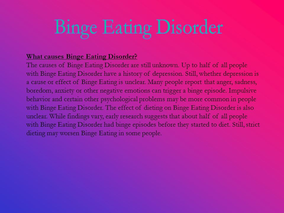 Introduction to Bulimia Nervosa