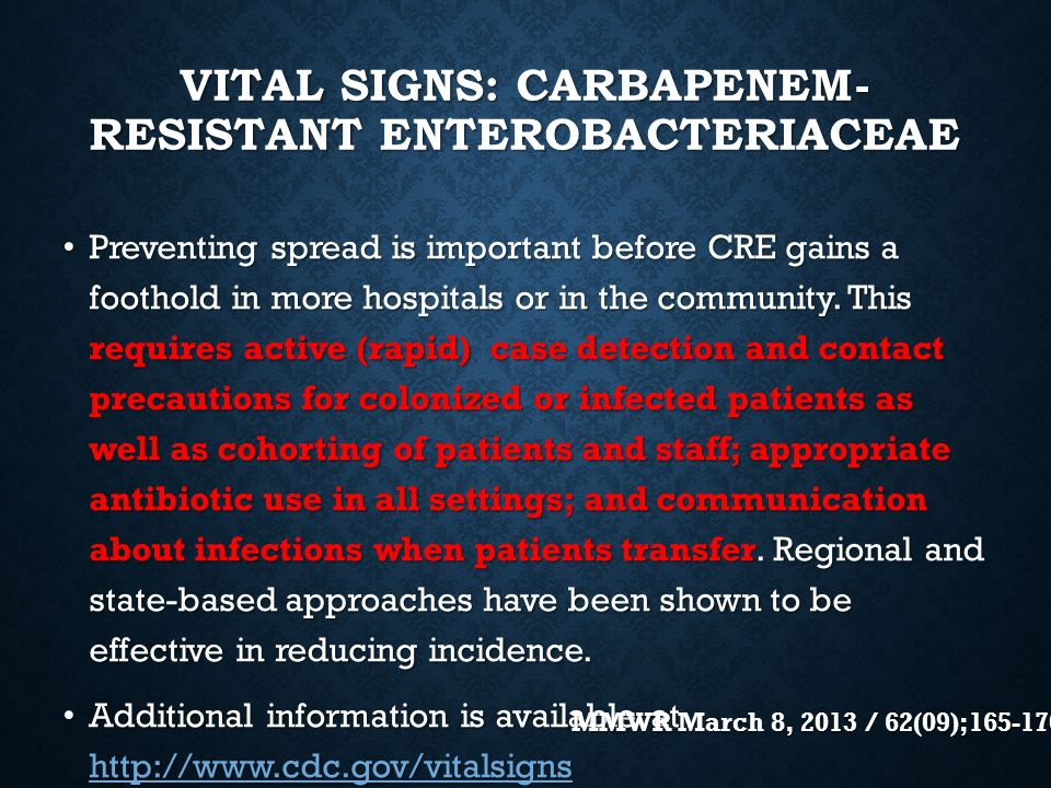 Update on ESBLS and Carbapenem Resistant ...