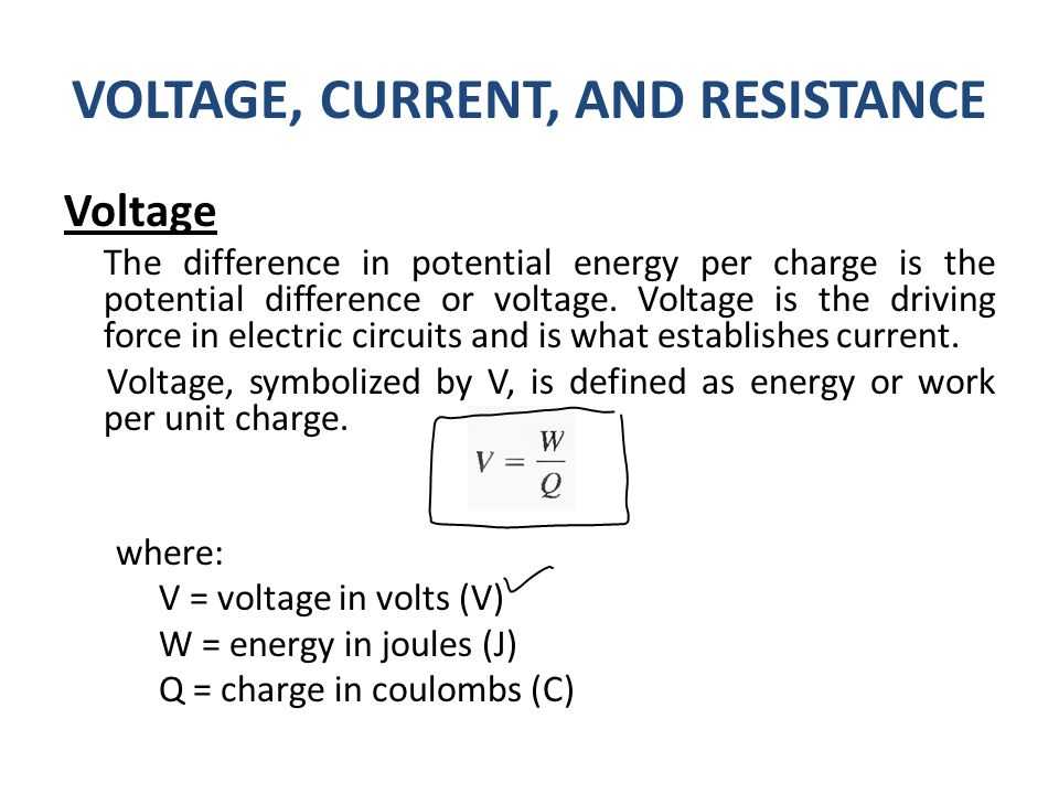 Voltage Current Resistance : Previous lecture international system of units