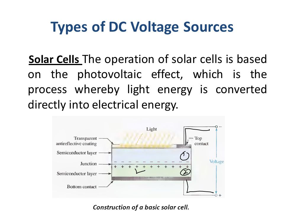 Types of DC Voltage Sources