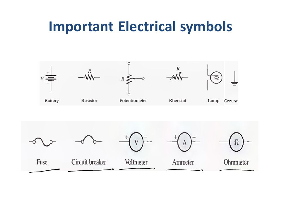 Important Electrical symbols
