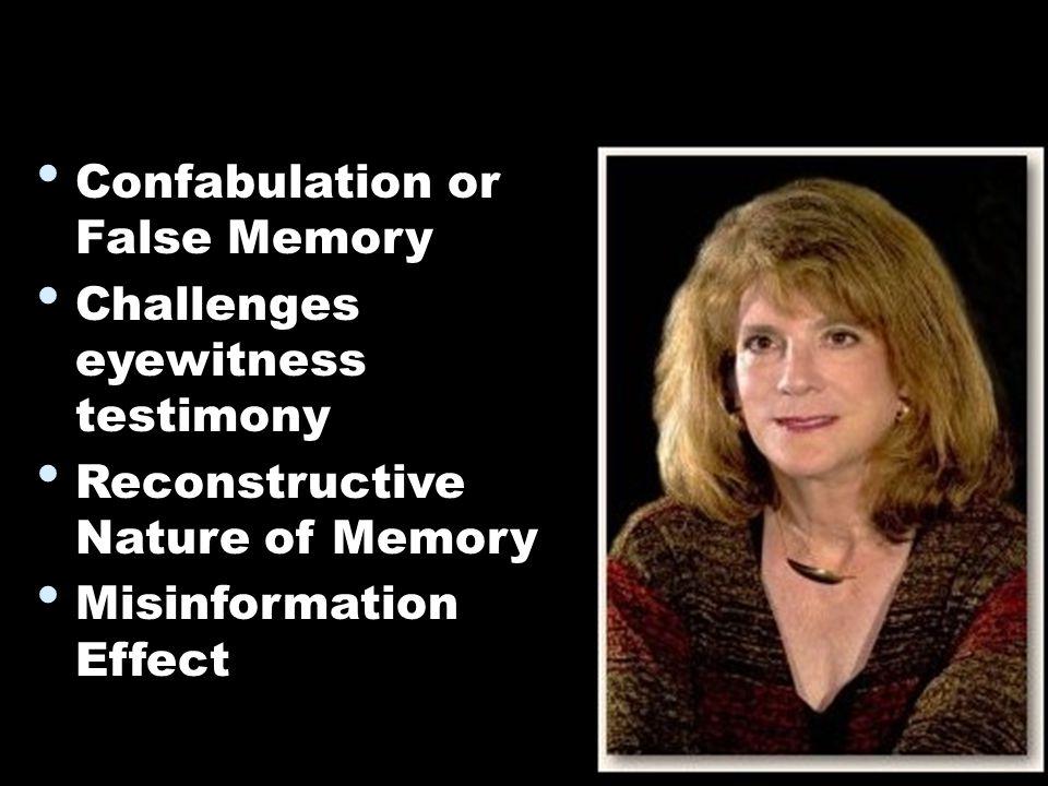 false memory eyewitness testimony essay Watch video psychologist elizabeth loftus studies memories more precisely, she studies false memories, when people either remember things that didn't happen or remember them.