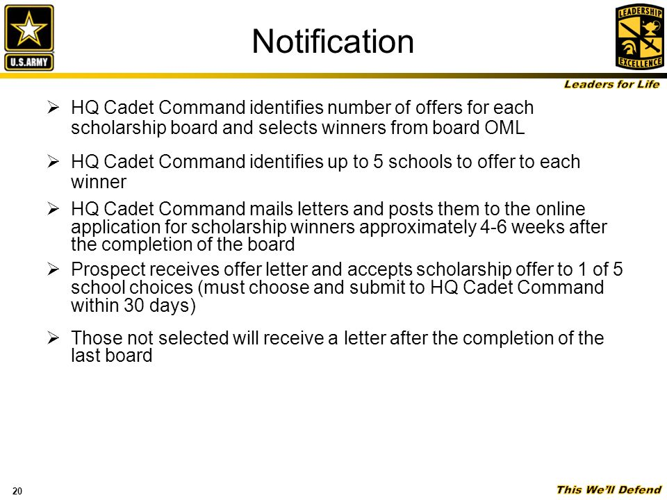 Army ROTC Scholarships ppt download