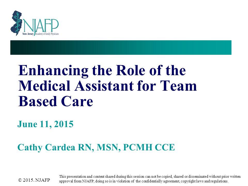 medical assistant 2015