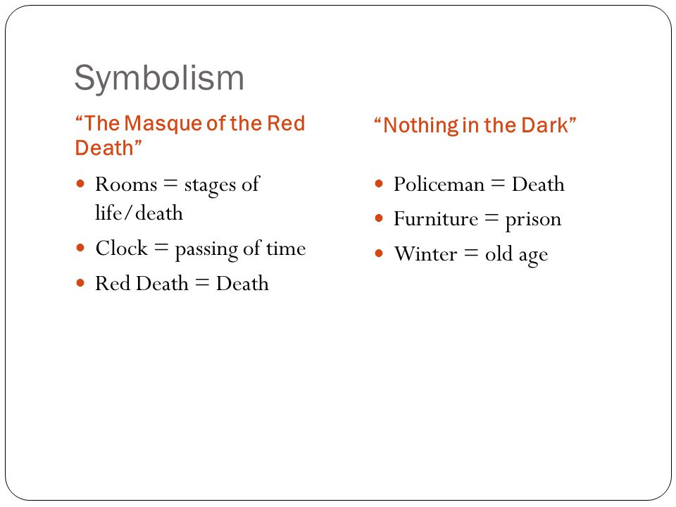 imagery in the masque of the red death