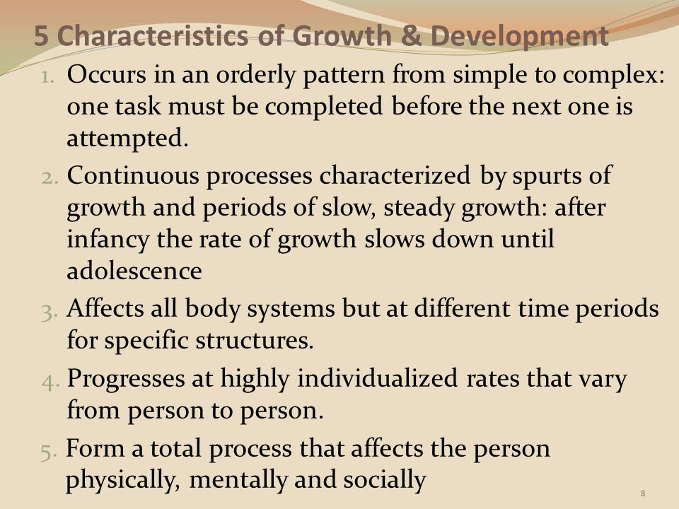 5 areas of development in a human person Understanding the concepts of life-span development and how  occur  physically, mentally and socially across a person's lifespan  human  development have recently adopted the lifespan perspective  lifespan  development (5th ed)  there are two important parts to this statement that i'm  making.