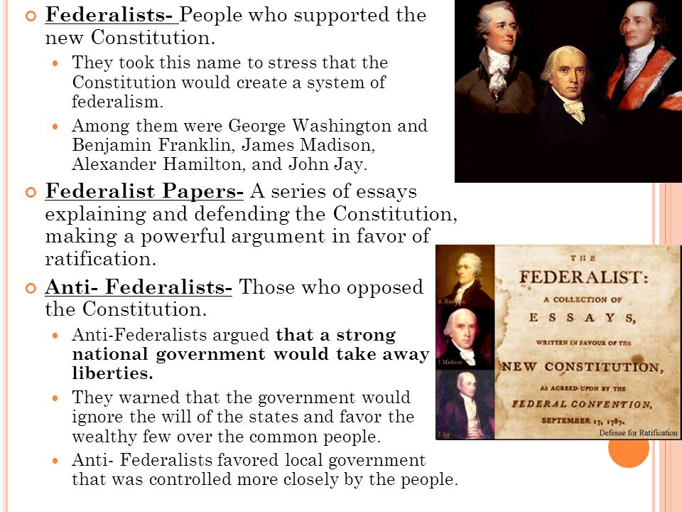 an argument in favor of federalism in the society Which of the following was an argument in favor of federalism at the time of the writing of the and explain how it impacted european society between 1815 and.