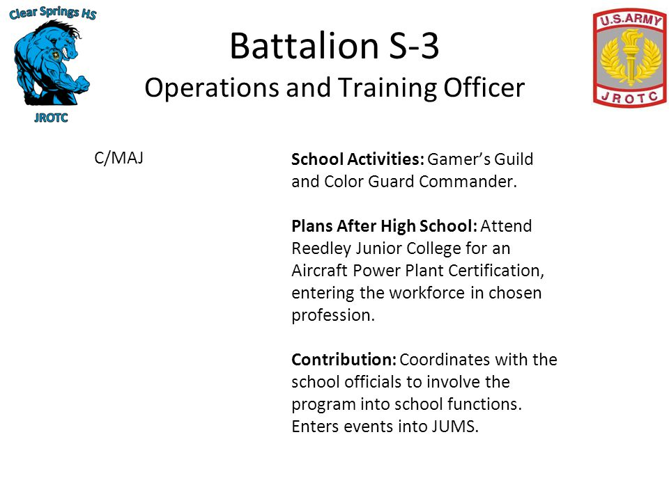 Charger battalion continuous improvement project 14 - How to become an army officer after college ...