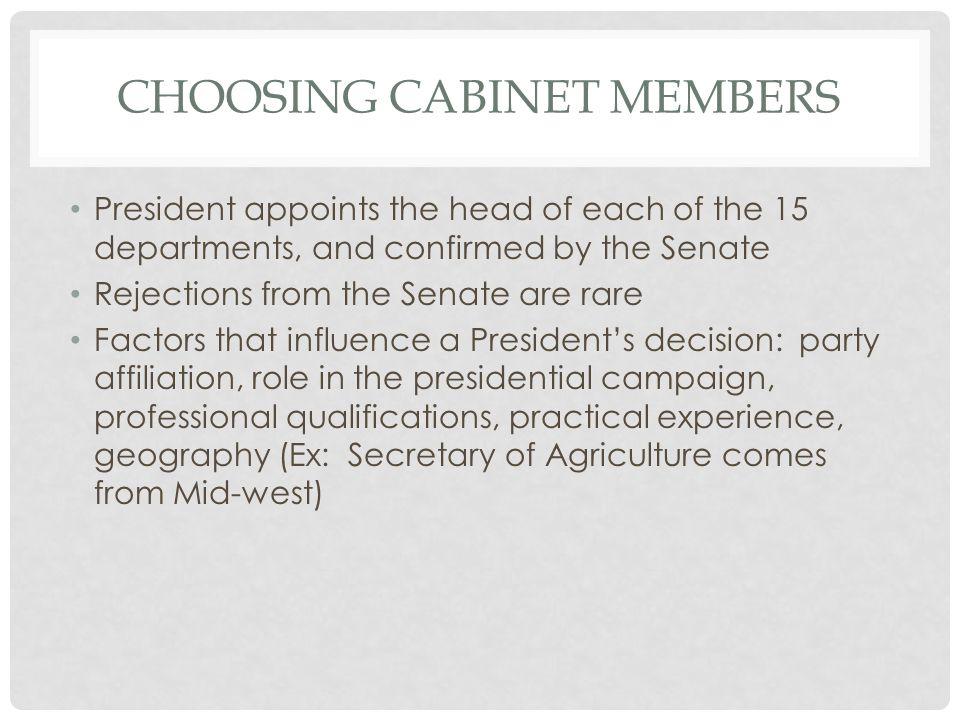 Cabinet Departments page - ppt download