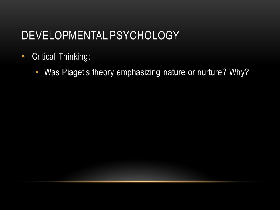 nature of developmental psychology pdf