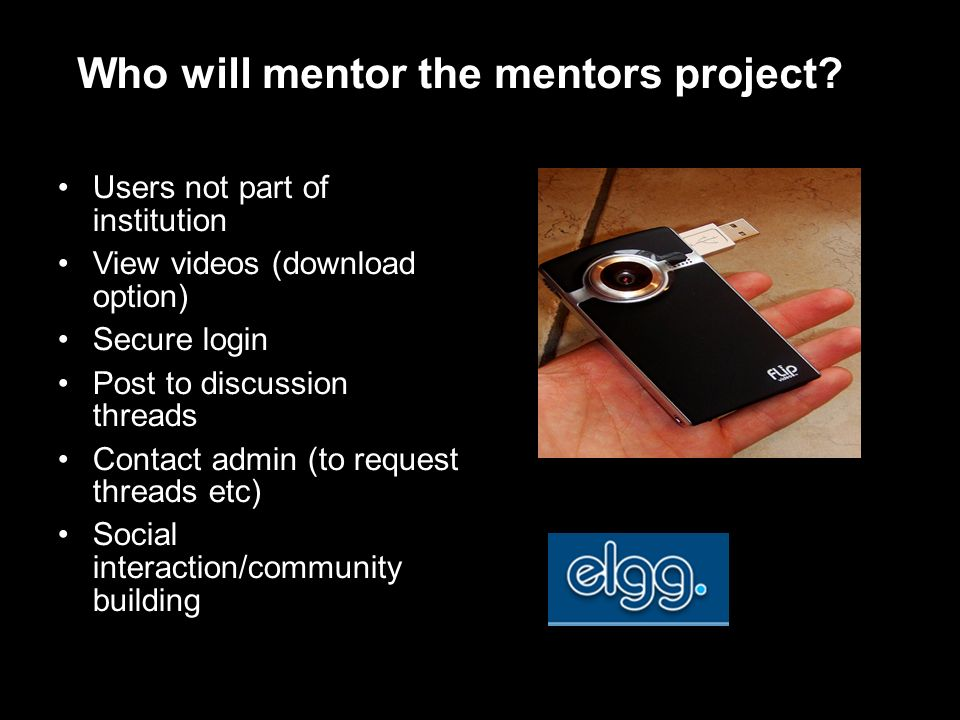 Who will mentor the mentors project