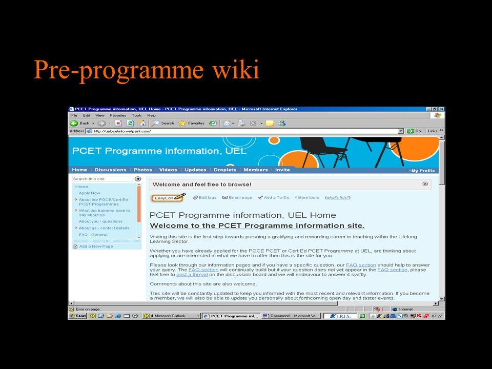 Pre-programme wiki 6 6