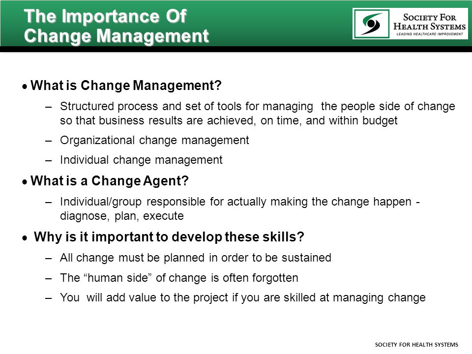 change management necessity in today s business Why is change management important 1 why is changemanagement importanta business case for developing an approachto managing change within.