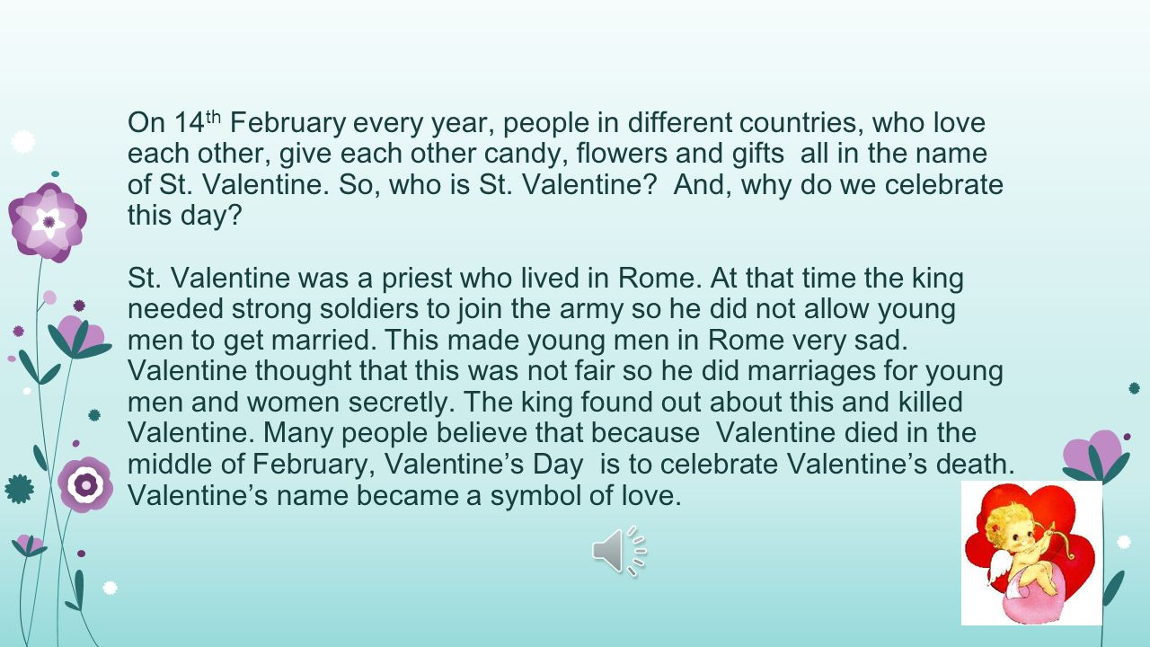 on 14th february every year people in different countries who love each other - Who Was St Valentine And What Did He Do