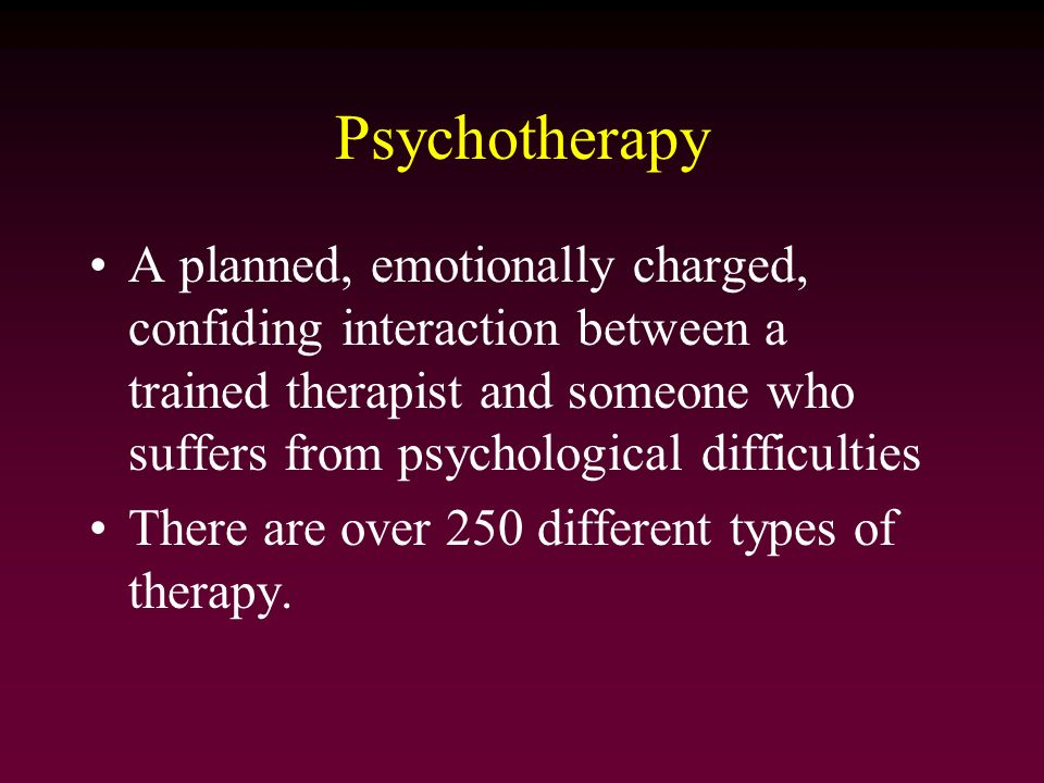 a look at the different therapies in psychology Cognitive behavioural therapy (cbt) is a type of psychotherapy used to   cognitive behavioural therapy is a particular type of treatment that psychologists  use with their  cbt involves looking at the link between a person's thoughts,  feelings and  the research shows that cbt can be effective for treating lots of  different.