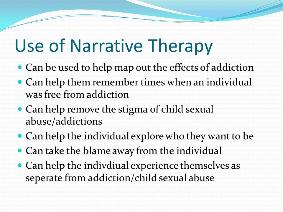 therapy and sexual abuse narrative