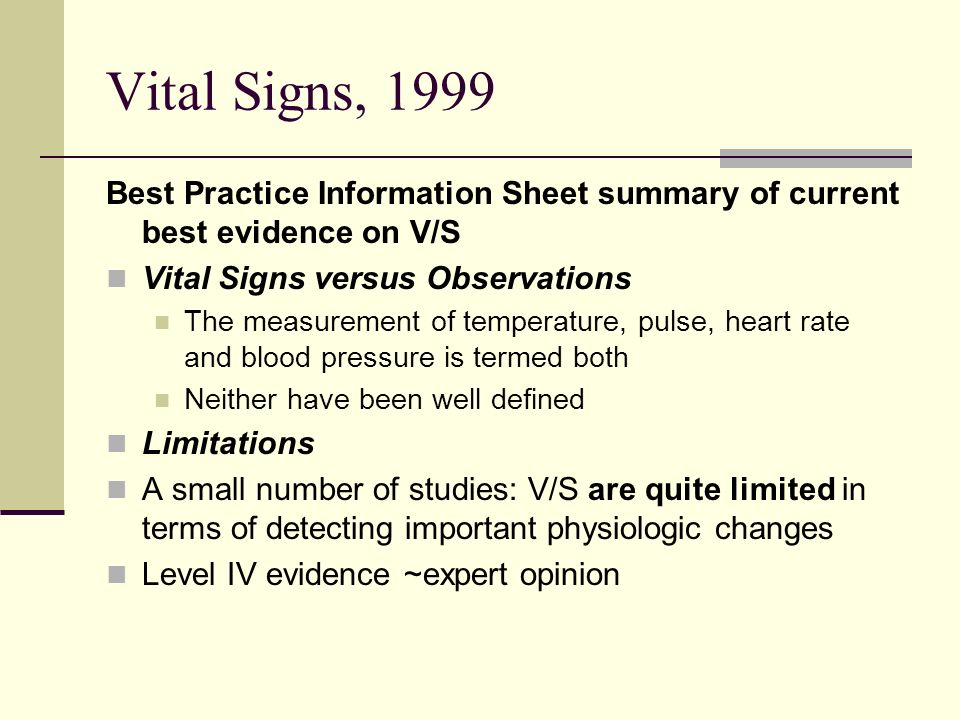 Vital Signs (Body Temperature, Pulse Rate, Respiration Rate, Blood Pressure)