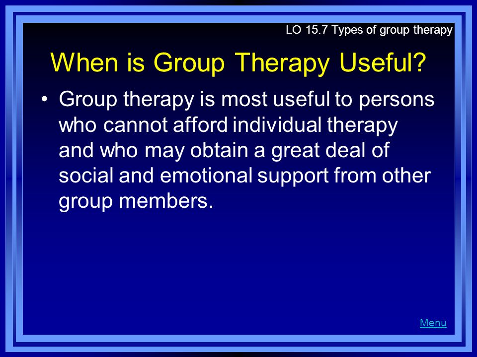 advantages of group therapy pdf