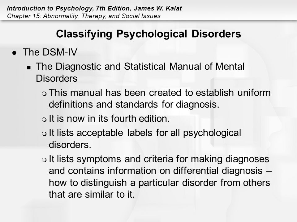 Clinical psychology diagnostic and statistical manual