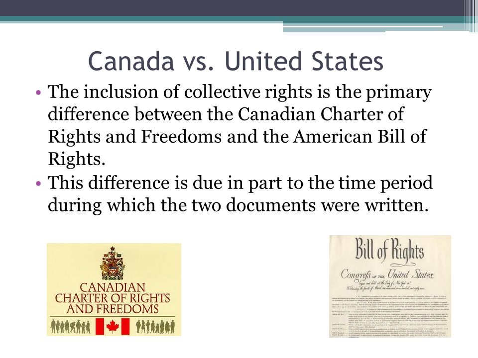 bill rights vs canadian charter Bill of rights vs canadian charter essay sample it is in this vein that a country drafts legislation to protect the rights of their inhabitants.