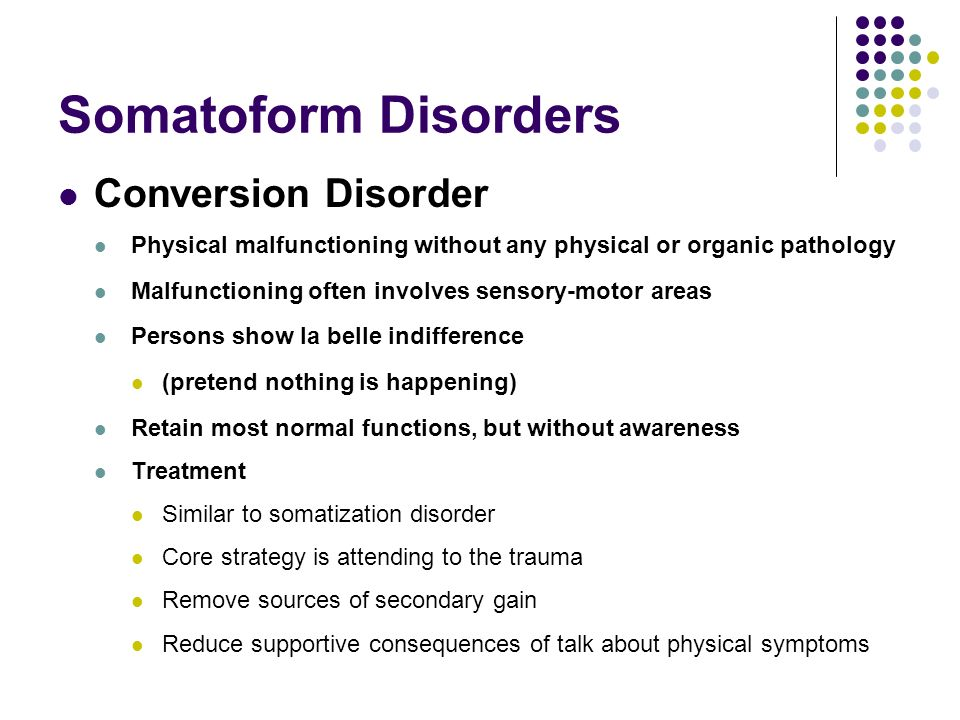 somatoform disorder essay name