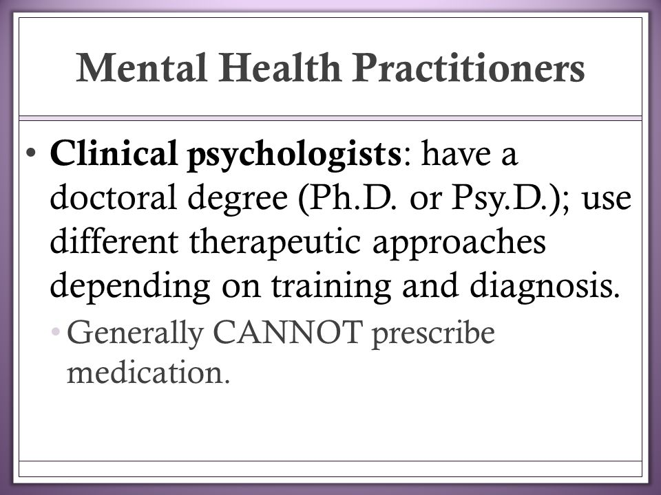 An analysis of the major categories of clinical psychology in treating mental disorders