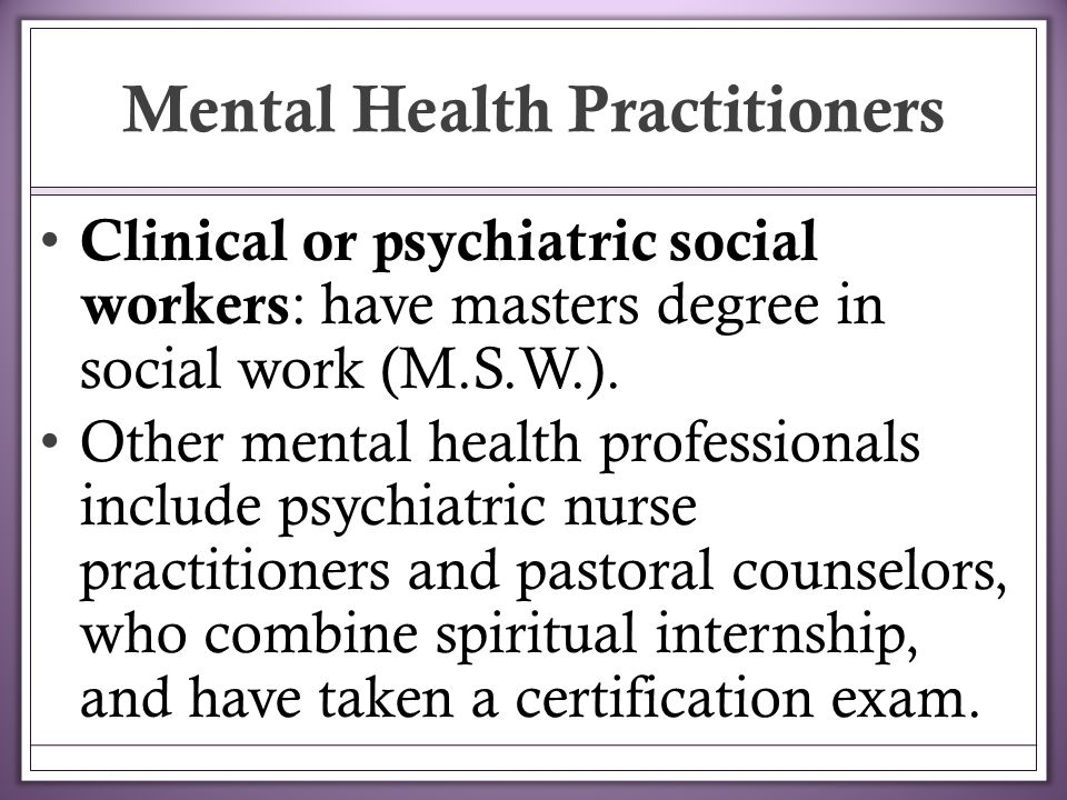 history mental health social work Mental health act reform since it strengthened the role of the approved social worker recent history in 1983 the mental health act commission was also.
