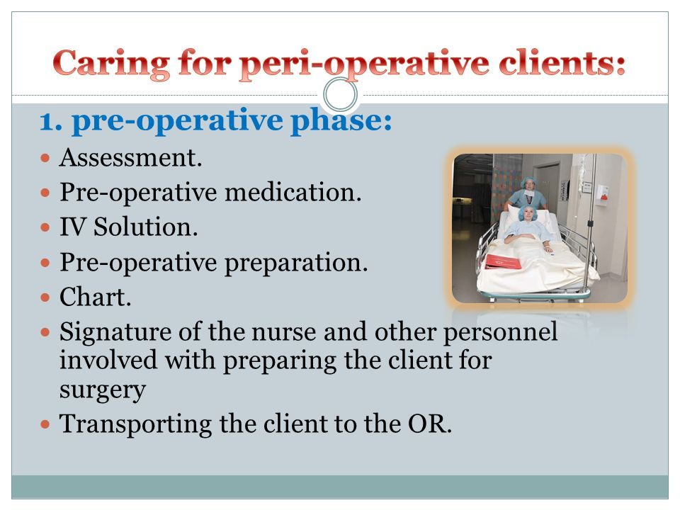 Caring for peri-operative clients: