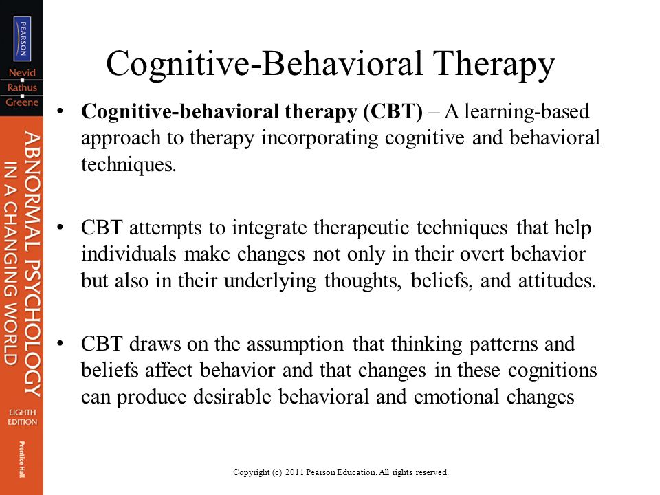 An overview of the behavioral cognitive theories and techniques