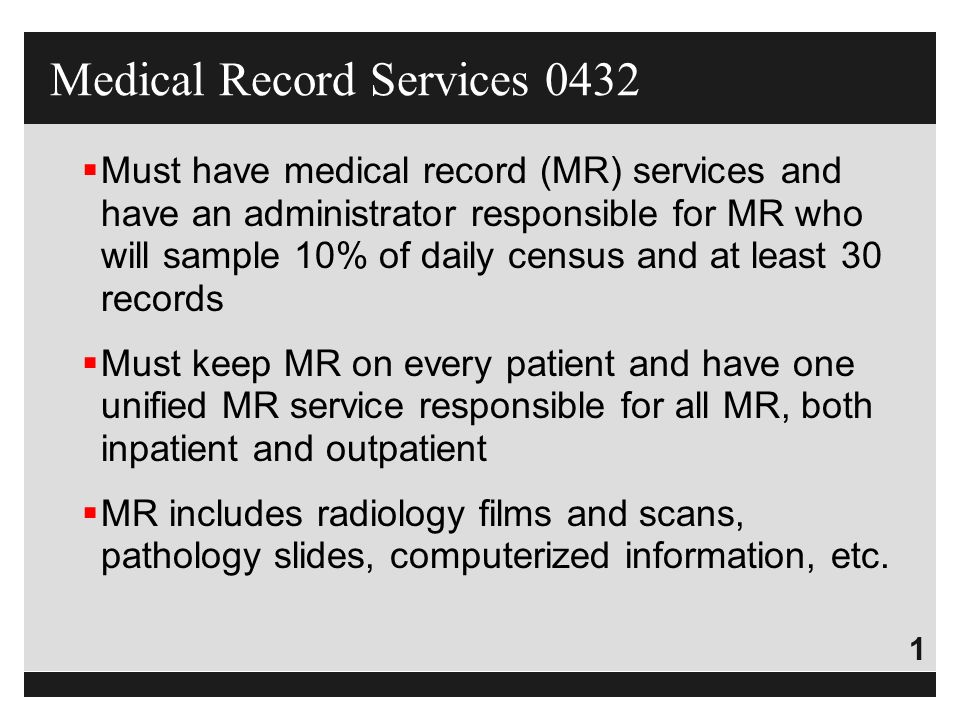 Medical Record Services ppt download