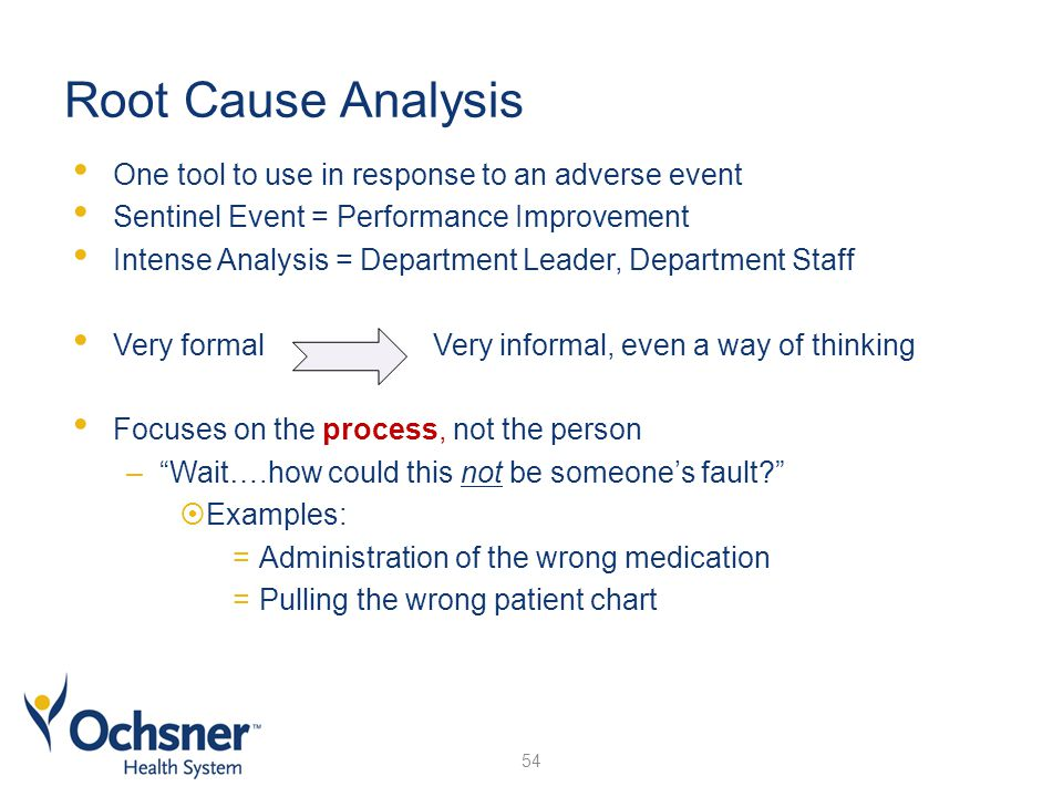 root cause analysis of a sentinel event essay Sentinel event    is an unexpected occurrence involving death or serious physical or psychological injury,  root cause analysis of sentinel events reviewed.