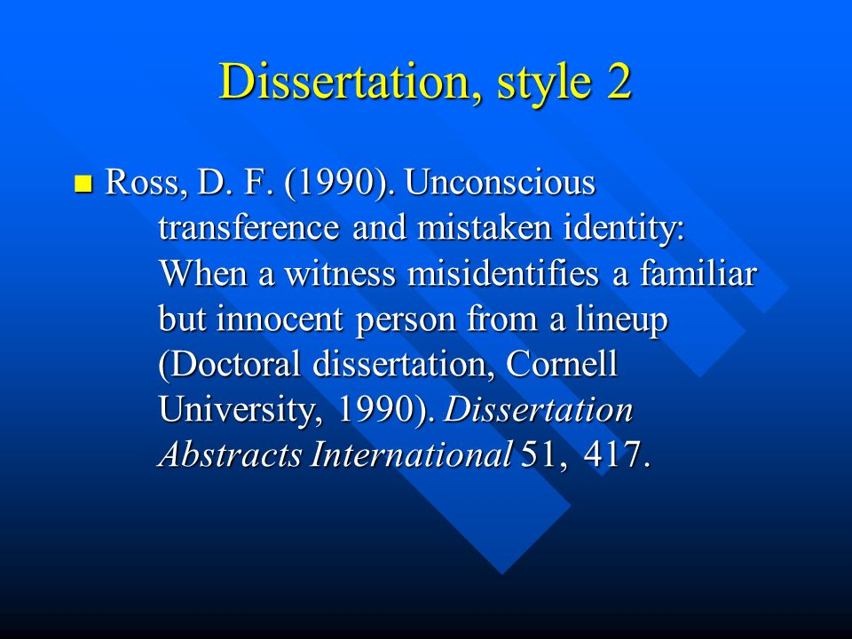 dissertation style first person Voice and person in apa style imagine you are writing a dissertation or journal article in the social sciences you want to sound objective and professional for that purpose, which person should you use: first (i/we) or third (he/she/they.