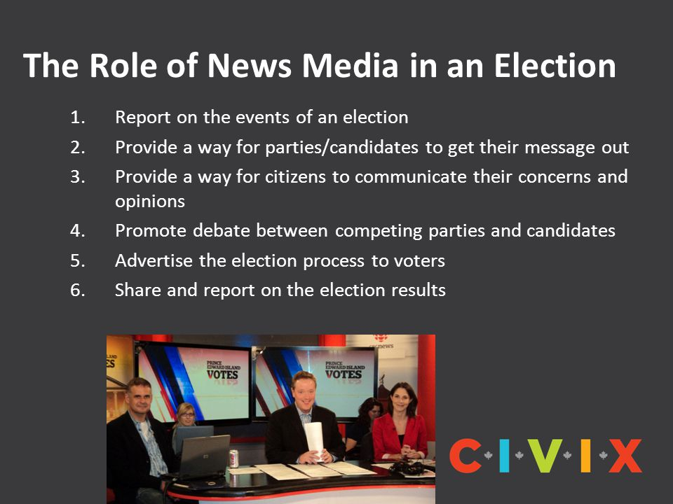The Role of News Media in an Election