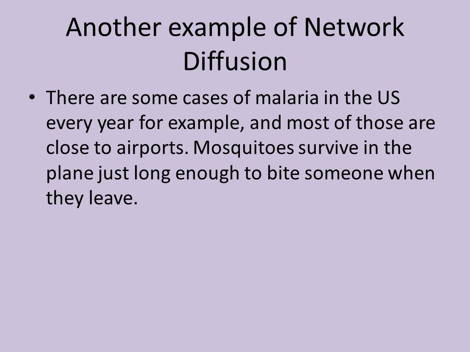 Another example of Network Diffusion