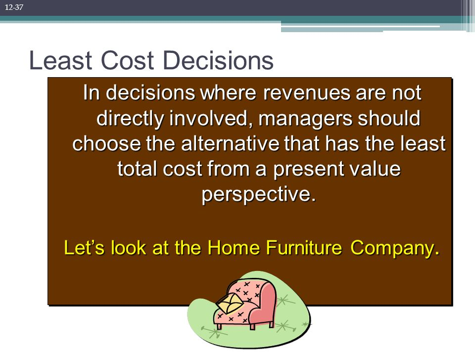 Let s look at the Home Furniture Company. Capital Budgeting Decisions   ppt download