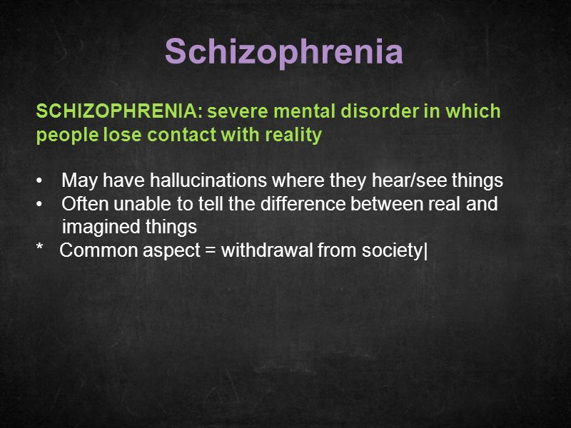 schizophrenia mental disorder essay Schizophrenia is a mental illness that is categorized as a nobody mentioned about any serious mental disorder about you can order a custom essay.