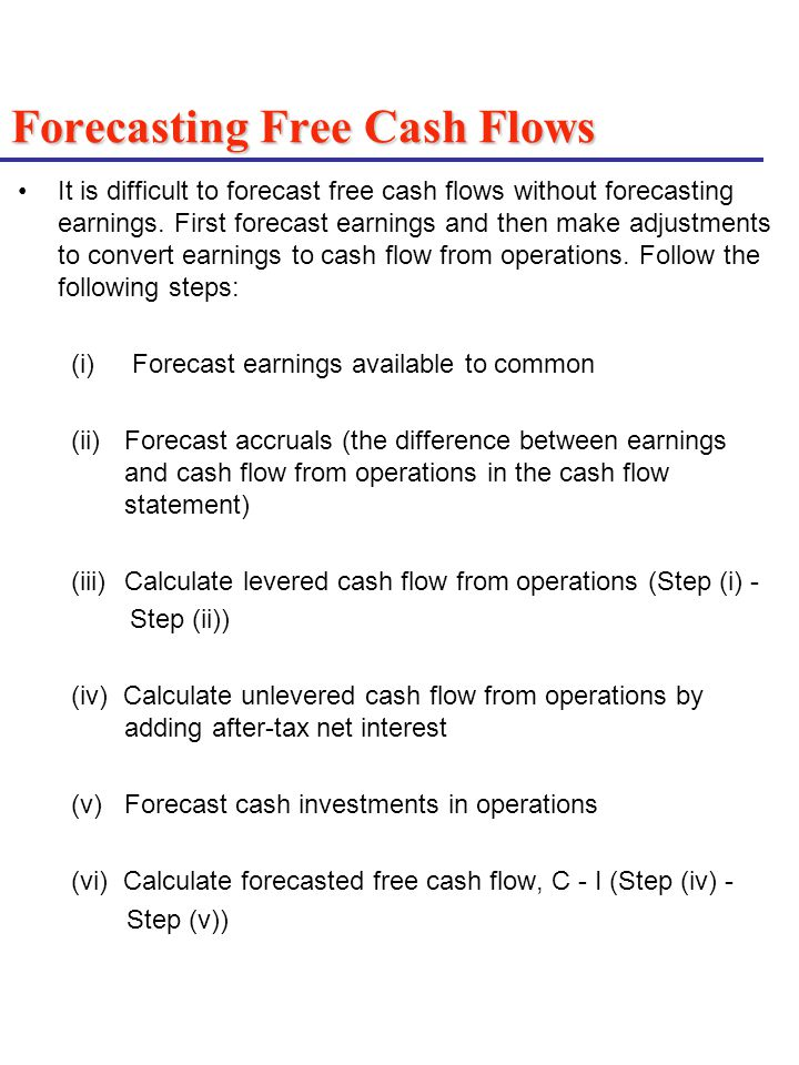 Difference Between Ebitda And Unlevered Free Cash Flow: Cash Accounting Accrual Accounting and Discounted Cash Flow ,Chart